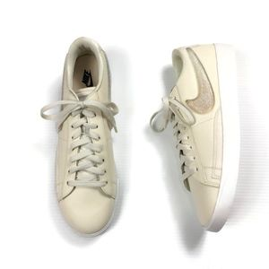 Nike Blazer Low LX Glitter Swoosh Ivory NEW